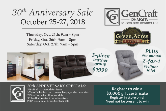 30th Anniversary Event, October 25-27!