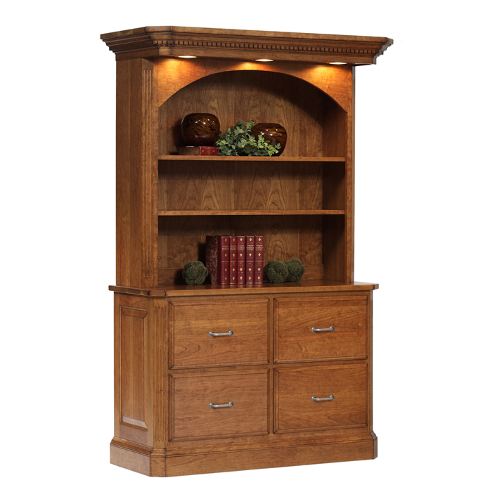 Milano File Cabinet With Bookcase
