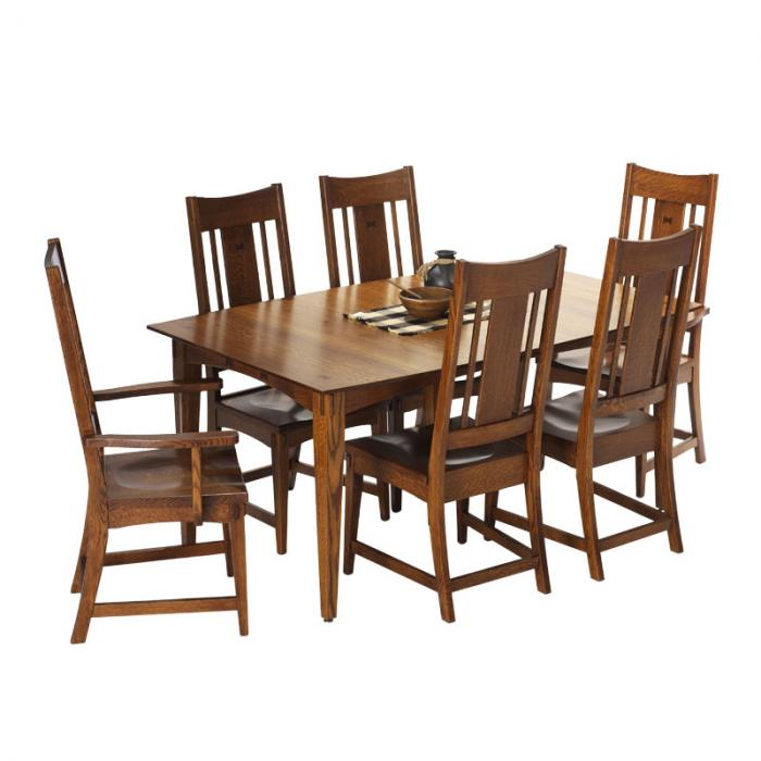 granville mission table with chairs, mission, GenCraft Designs