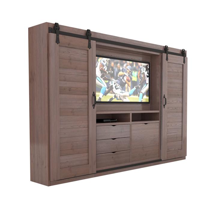 barn door wall unit, rustic furniture, GenCraft Designs, furniture style preference quiz