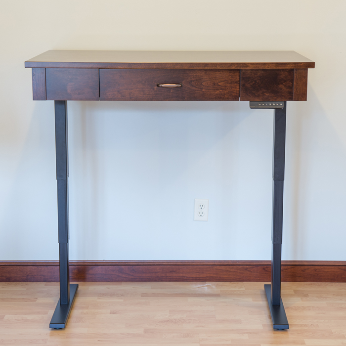 adjustable lift desk, standing desk, custom standing desk, wood standing desk, 10% off standing desk, standing desk sale, gencraft designs furniture