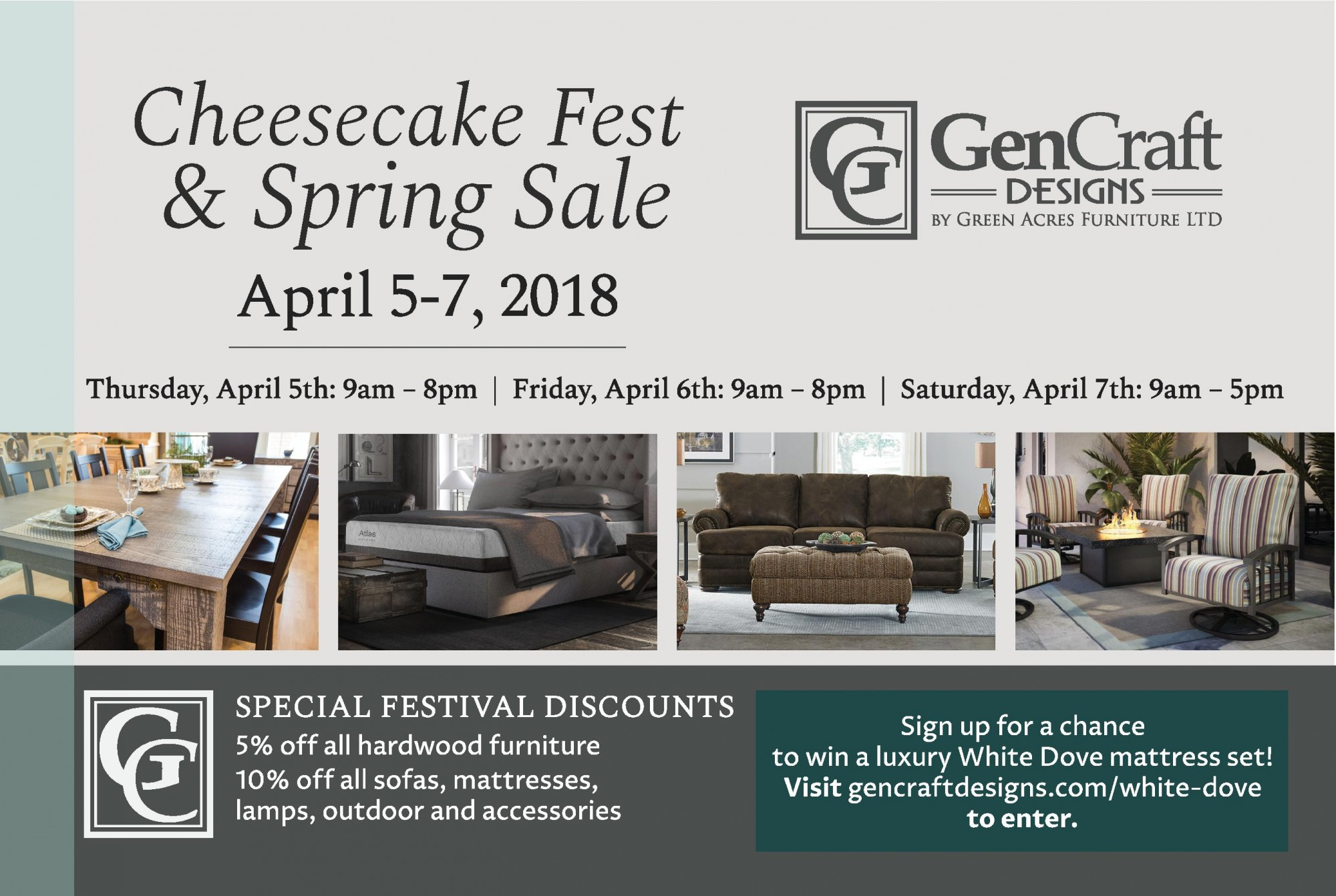 Spring Sale & Cheesecake Fest